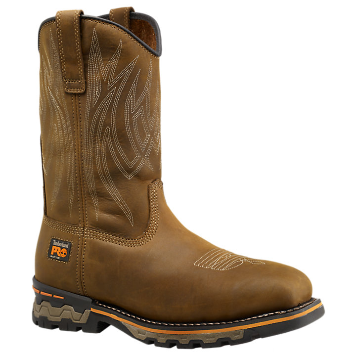 Men's Timberland PRO® AG Boss Square Alloy Toe Unlined Pull-On Work Boots-
