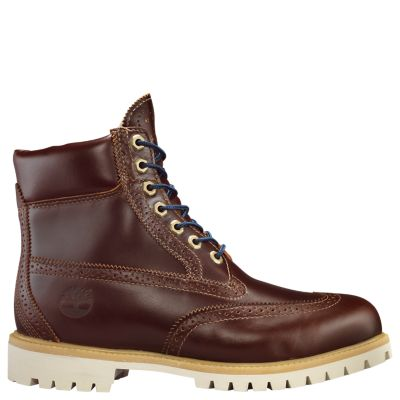 MENS TIMBERLAND BROGUE BOOTS CHESTNUT BRAND NEW WITH BOX