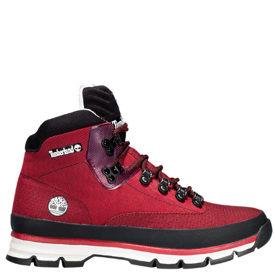 timberland euro hiker red