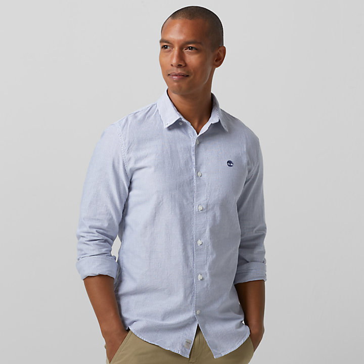 Men's Rattle River Slim Fit Oxford Striped Shirt-