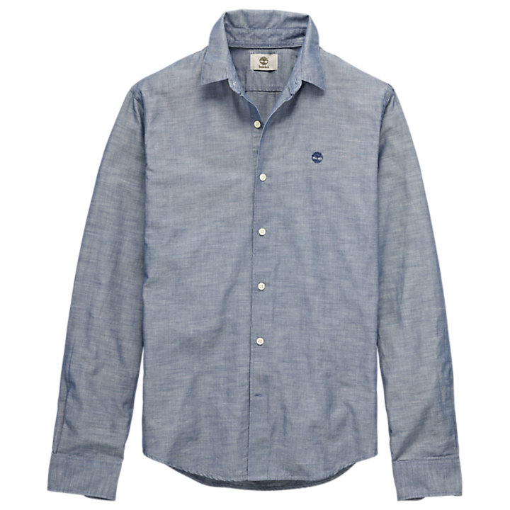 Men's Rattle River Slim Fit Chambray Shirt-