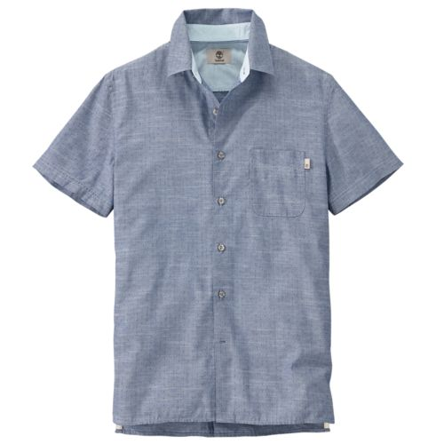 Men's Allendale River Slim Fit Chambray Shirt-