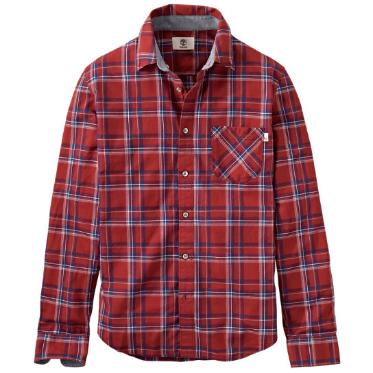 Men's Allendale River Slim Fit Plaid Poplin Shirt