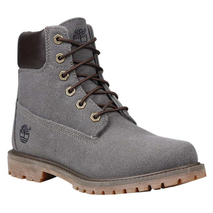 Women's 6-Inch Premium Canvas Boots-