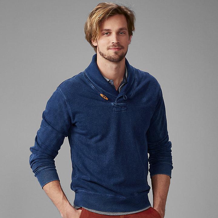 Men's Taunton River Slim Fit Shawl Collar Sweatshirt-