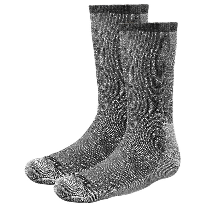 Men's Wool/Synthetic Blend Crew Socks (2-Pack)-