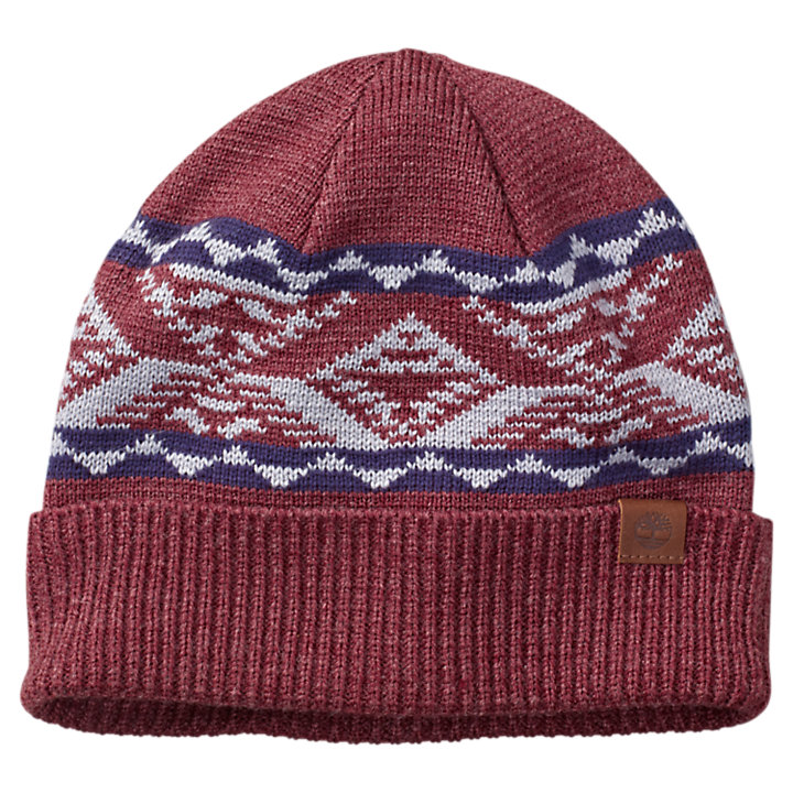 Cuffed Patterned Beanie-