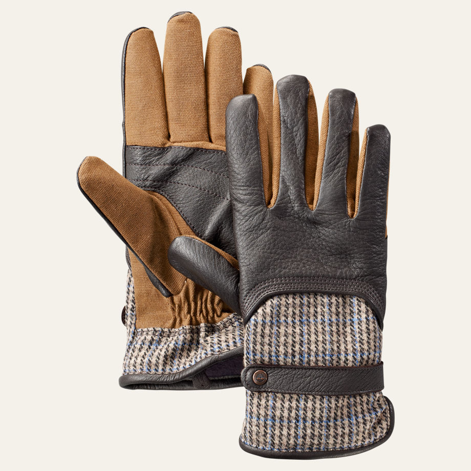 Men's Waxed Canvas/Deerskin Gloves