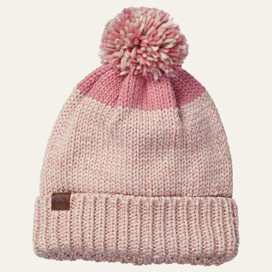 Women's Color Block Cuffed Pom Hat