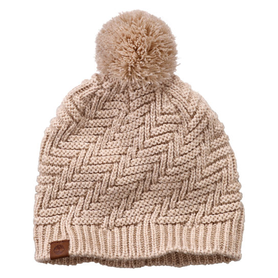 Zig-Zag Knit Winter Hat