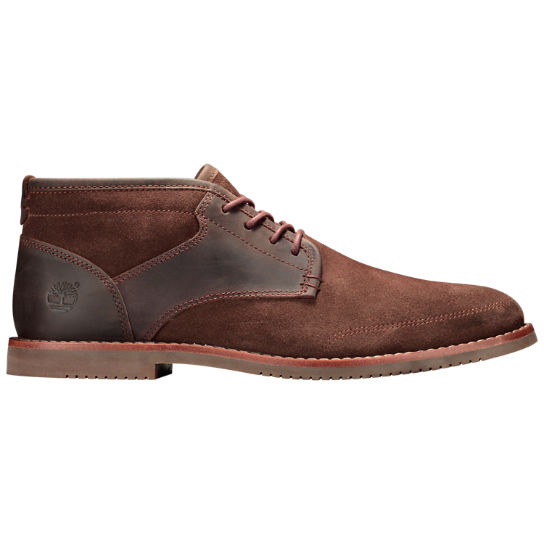 Mens Brooklyn Park Leather Suede Chukka Shoes