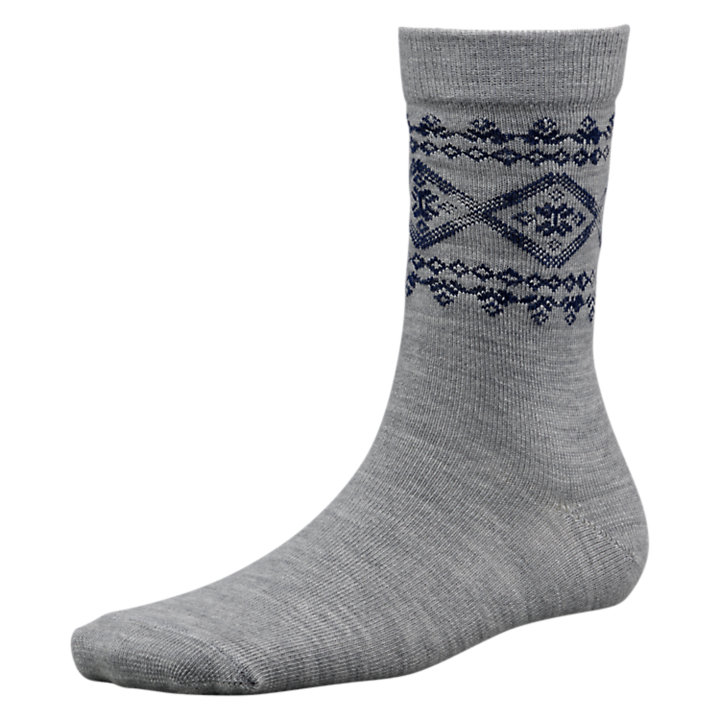 Women's Merino Wool Heathered Crew Socks-
