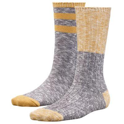Women's Marled Two-Tone Crew Socks (2-Pack)