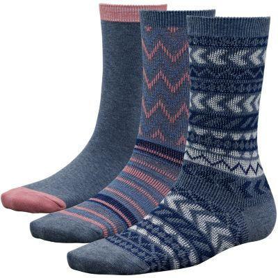 Women's Multi-Pattern Crew Socks (3-Pack)