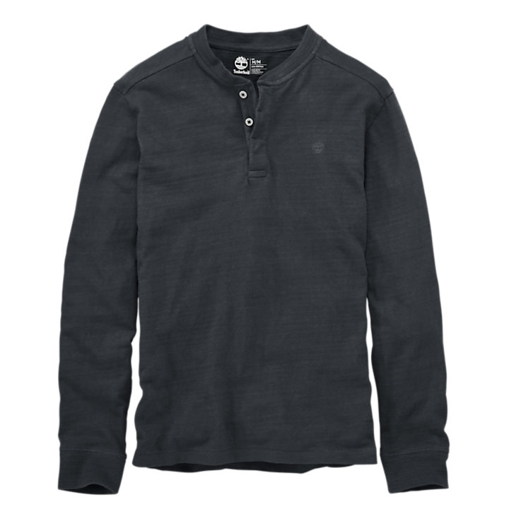 Men's Harrington River Slub Henley Shirt-