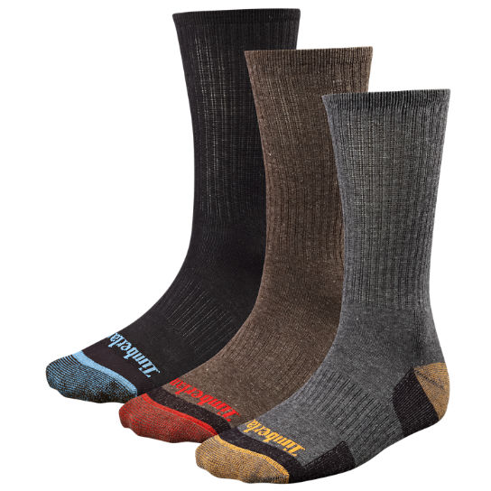 Men's Casual Crew Socks (3-Pack)