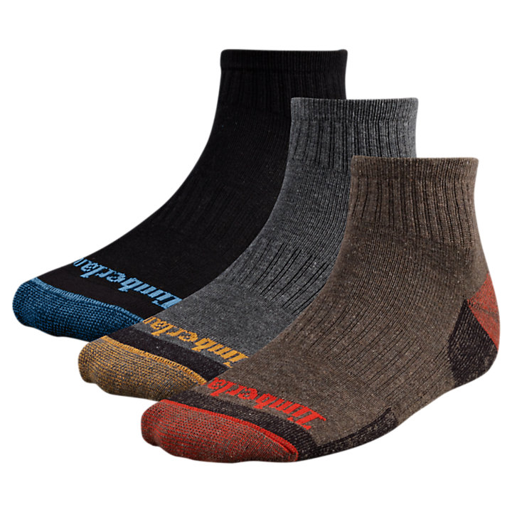 Men's Casual Quarter Socks (3-Pack)-