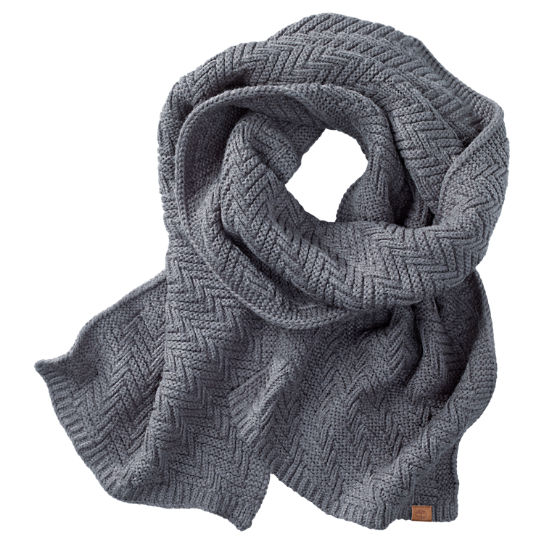 Zig-Zag Knit Winter Scarf