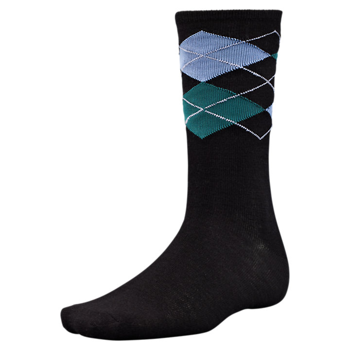 Men's Merino Wool Argyle Crew Socks-