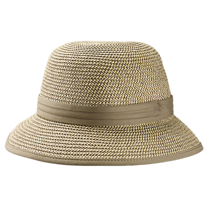 Women's Bass Beach Straw Bowler Hat-