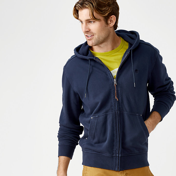 Men's Overdyed Full-Zip Sweatshirt-