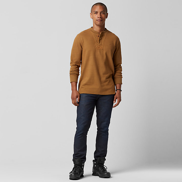 Men's Essential Slub Henley Shirt-