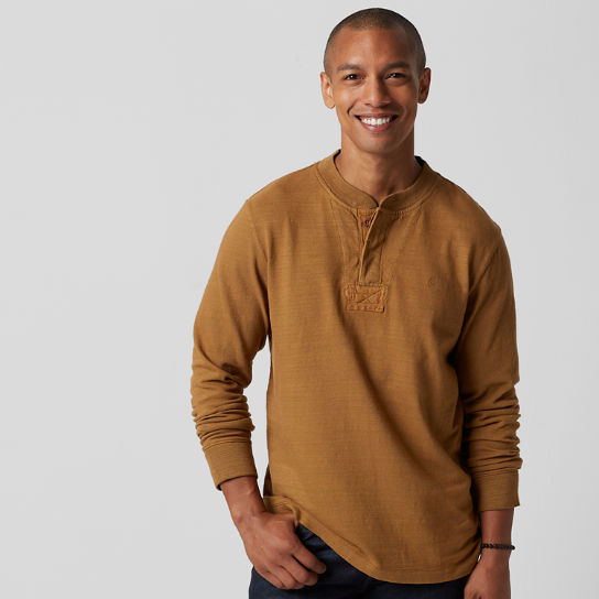 Men's Essential Slub Henley Shirt