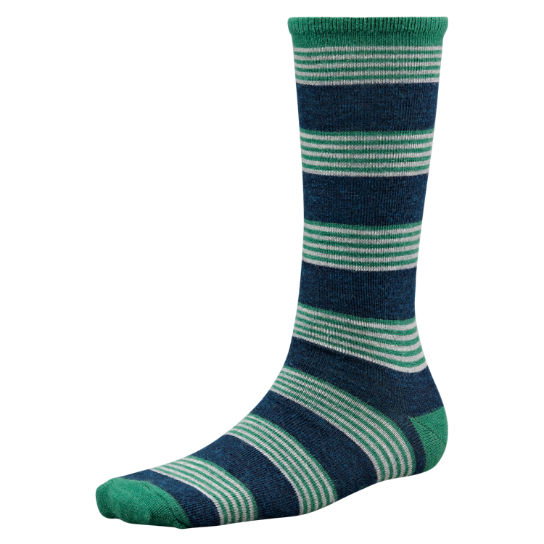 Men's Striped Merino Wool Crew Socks