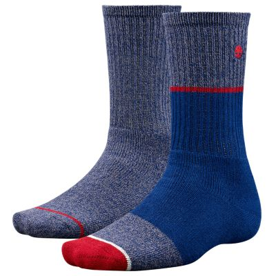 Men's Color Block Crew Socks (2-Pack)