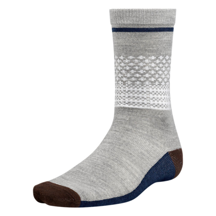Men's Patterned Wool Crew Socks-