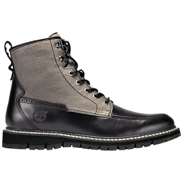 Men's Britton Hill Mixed-Media Moc Toe Boots-