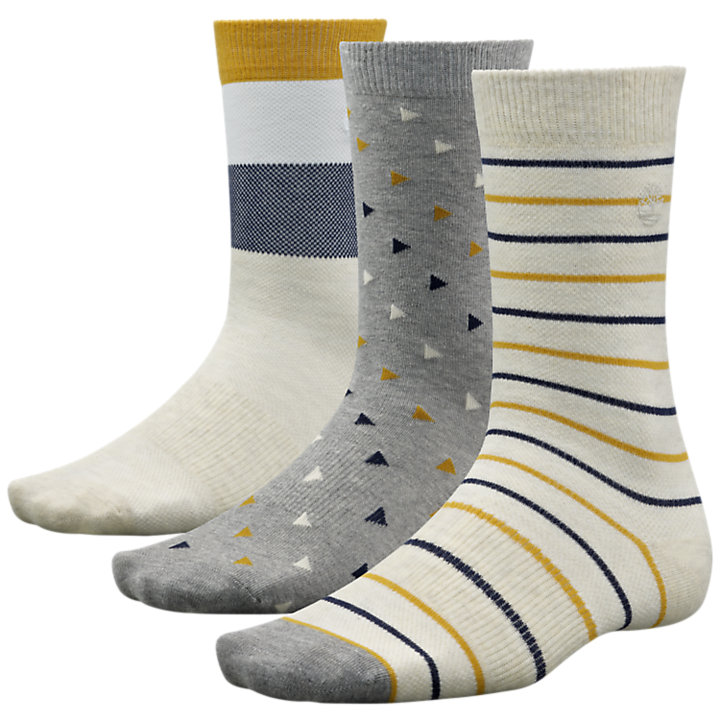 Men's Patterned Crew Socks (3-Pack)-