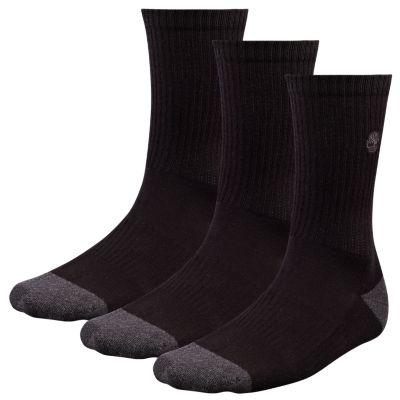 Men's Black Crew Socks (3-Pack)