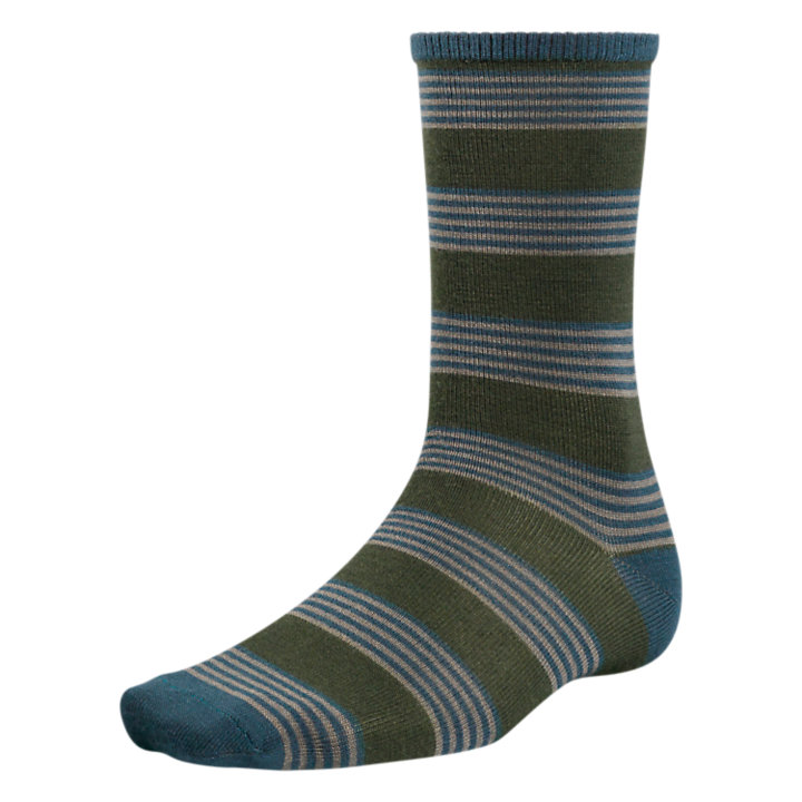 Men's Premium Wool Striped Crew Socks-
