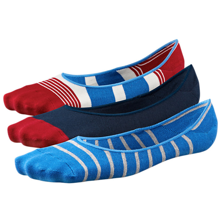 Men's Striped Liner Socks (3-Pack)-
