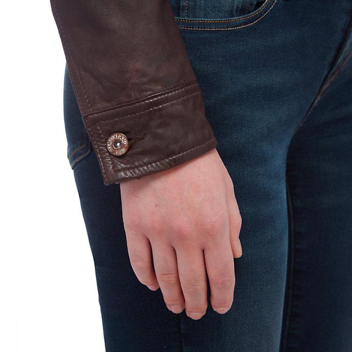Women's Mt. Tabor Leather Trucker Jacket-