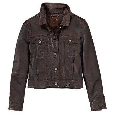 Women's Mt. Tabor Leather Trucker Jacket