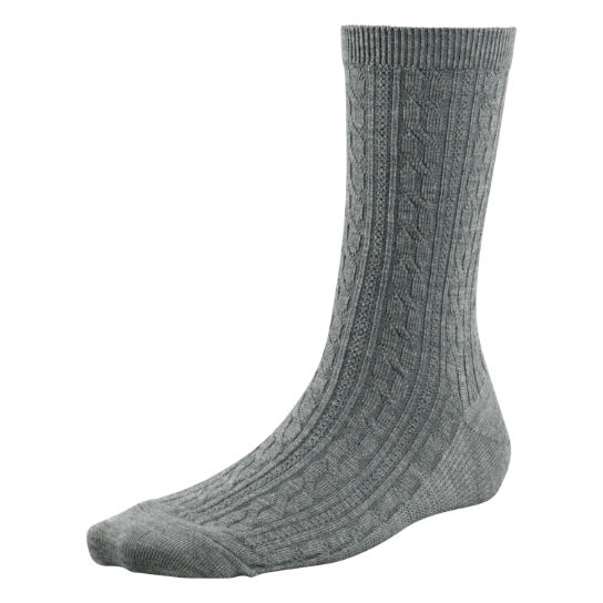 Women's Premium Wool Cable Knit Crew Socks