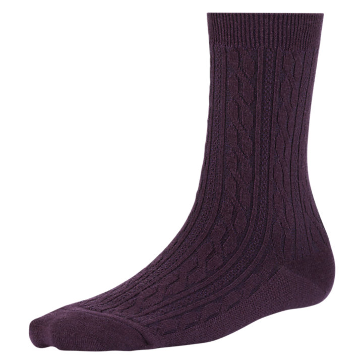 Women's Premium Wool Cable Knit Crew Socks-