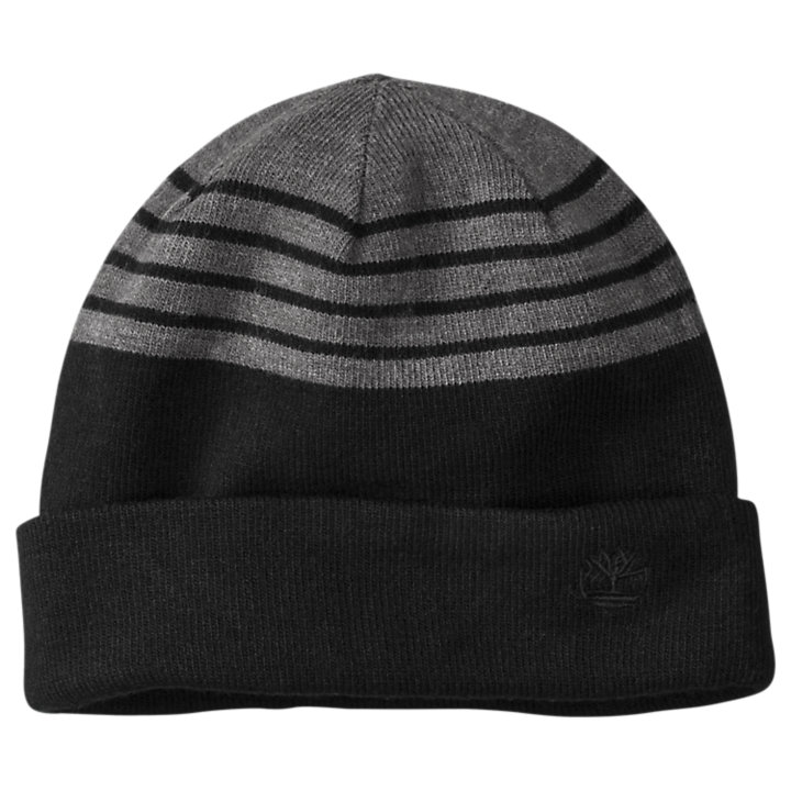 Reversible Striped/Solid Beanie-