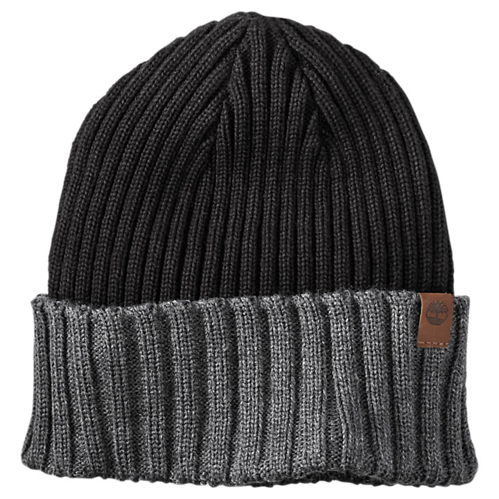 Color Block Cuffed Beanie-