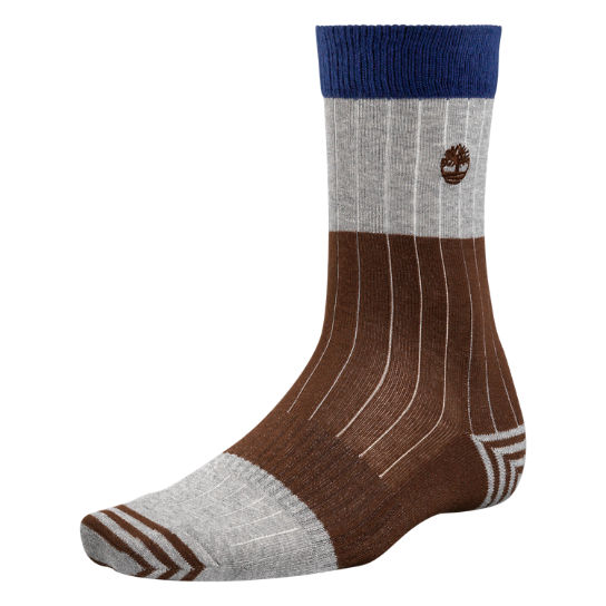 Men's Color Block Crew Socks
