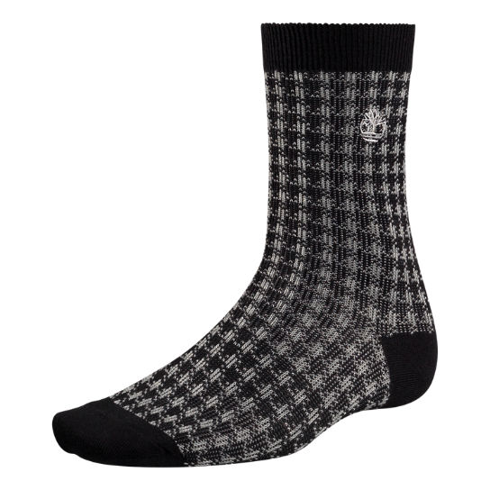 Men's Houndstooth Crew Socks
