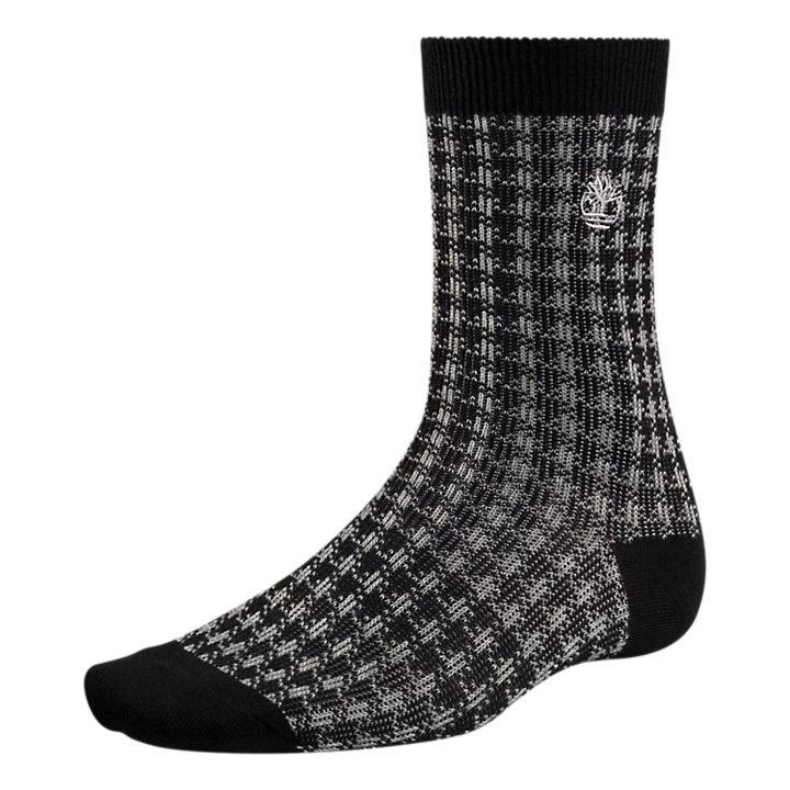 Men's Houndstooth Crew Socks-