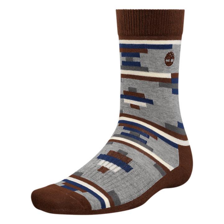 Men's Geometric Pattern Crew Socks-