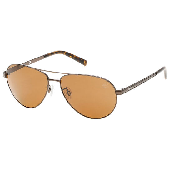 Polarized Steel Frame Aviator Sunglasses