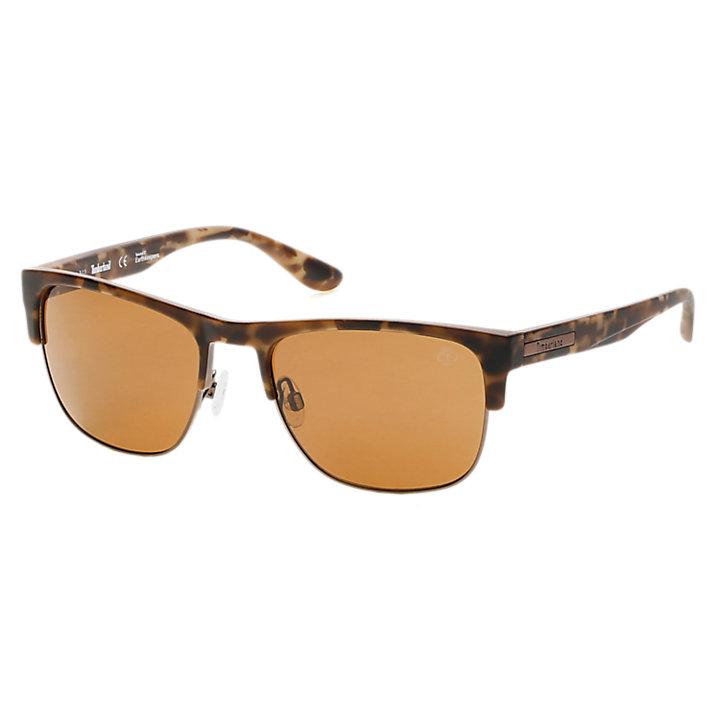 Polarized Retro Square Frame Sunglasses-