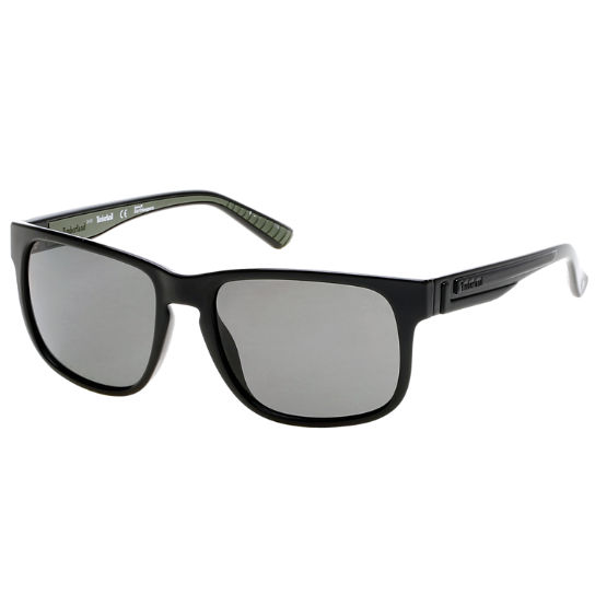 Polarized Plastic Retro Rectangular Frame Sunglasses