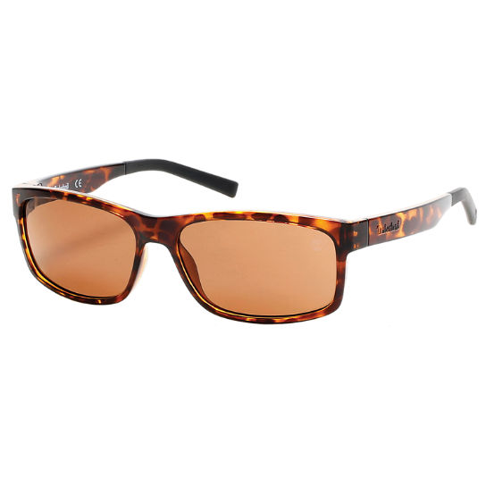 Polarized Plastic Rectangular Frame Sunglasses