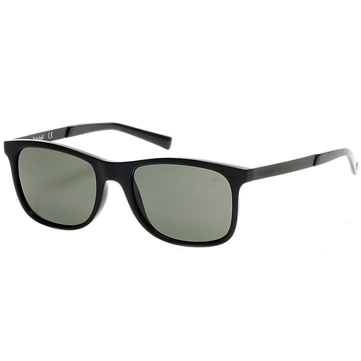 Polarized Plastic Square Frame Sunglasses-